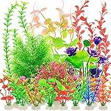 YMHPRIDE 22PCS Aquarien plastikpflanzen, künstliche Wasserpflanzen, Aquarium-Aquariumpflanzen,...