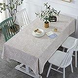 LT Tischdecke Tischtuch Baumwolle Leinen Pflegeleicht Schmutzabweisend Abwaschbar...