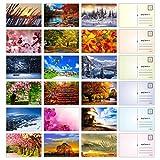 Seasonal Nature Postkarten  Packung mit 54 Stck, 10,2 x 15,2 cm groe Auswahl an...