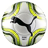 PUMA FINAL 1 Statement (FIFA Quality Pro) Fußball, White/Lemon Tonic/Black, 5