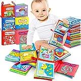RenFox 6 Stücke Stoffbuch für Babys, Soft-Bilderbuch Baby Spielzeug Pädagogisches...