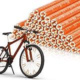 EKKONG Speichenreflektoren 48 Stück,Speichen Reflektor Warnstreifen Fahrradspeichen für Clips...