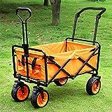 MAATCHH Garten Carts Wagons Outdoor-Camping-Trolley Trolley Strand Trolley mit komfortablen Griff...