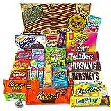 Groer Amerikanische Sigkeiten Geschenkkorb | Sigkeiten aus den USA | Auswahl beinhaltet Hersheys,...