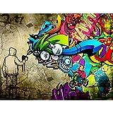 Fototapeten Graffiti Streetart 352 x 250 cm Vlies Wand Tapete Wohnzimmer Schlafzimmer Büro Flur...