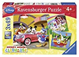 Ravensburger Disney Mickey Mouse, Clubhaus 3 x 49 Teile, Puzzle