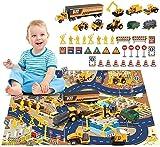 BeebeeRun Fahrzeuge Spielzeug Set für Kinder,Spielzeug ab 3 Jahren Jungen, Mädchen,Baufahrzeug LKW...