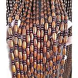 DSDD 45 Stränge Holz Perlen Vorhänge Tür Schnur Perlen Vorhang für Türen/Schrank Raumteiler...