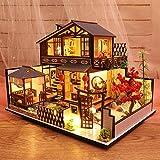 Letway DIY Spielzeughaus Handmontiertes Haus Puppenhaus Miniatur Es Ist EIN Perfektes Und...