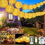 LED Lampion Lichterkette Außen, 20er 8 Modi Lampion LED Lichterketten, USB/Batteriebetriebe und...