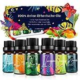 Ätherische Öle Set Diffuser Duftöl - 100% Naturrein Aroma Diffuser Aromatherapie Öl Aromaöl...