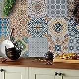 Tile Style Decals 24 stück Fliesenaufkleber für Küche und Bad TP60-6   Verschiedene Mosaik...