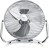 Brandson - Windmaschine Retro Stil 120 Watt - Ventilator in Chrom - Standventilator 45 cm -...