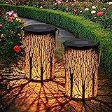 2 Stück Solar Laterne für Außen,OxyLED IP44 Wasserdicht Dekorativ Solar Gartenleuchte,Solarlampe...