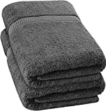 Utopia Towels - Badetuch groß aus Baumwolle 600 g/m², 2er Pack - Duschtuch, 90 x 180 cm (Grau)