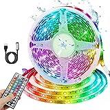 LED Strip 3m, RGB USB LED Streifen, 180 LEDs 5050 LED Streifen mit 20 Farben/ 6 Modi/ Wasserdicht...