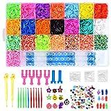 Queta 6800 DIY Gummibänder Loom Bänder Box Aufbewahrungsbox Armband Halskette Strickwerkzeug...
