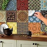 Tile Style Decals 24 stück Fliesenaufkleber für Küche und Bad 24x NTP 06-6'   Verschiedene Mosaik...