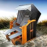 BRAST Strandkorb Deluxe 2-Sitzer XXL für 2 Personen 120cm breit mehrere Designs incl. Abdeckhaube...
