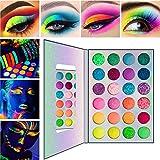 Jilijia 24 Color Glitter Lidschatten Palette Halloween, Aurora Glow Lidschatten Palette Bühne,...