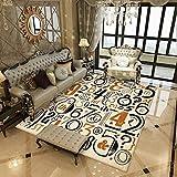 Aiyaoo Kurzflor Teppich Rechteckig 120x160cm Quadratisch Teppiche für Schlafzimmer Wohnzimmer...