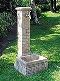 pompidu-living Standbrunnen Betty - Brunnen aus Marmor in echter Handarbeit - Der ideale...