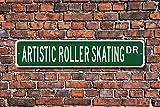 Yilooom Artistic Roller Skating, Roller Skating Gift, Artistic Roller Skating Sign, Roller Skating...