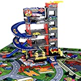 TikTakToo Parkgarage Spielset mit Autos und viel Zubehör für Kinder Spielzeugautos teilweise mit...