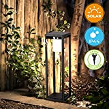 BRIMMEL 60W Solarleuchte Garten LED Außenleuchte Pfostenlichter mit Sensor für Pfad Terasse Garten...