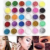 Neverland Professional 30 Mischfarbe Kosmetik Glitter Mineral Lidschatten Augen Make-up Schatten...
