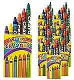 Libetui 10 Sets 6er Wachsmalstifte Crayons Wachsmalkreide fr Kinderparty Hochzeit Kindergeburtstag...