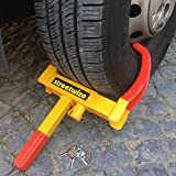 TierXXL Streetwize universal Radkralle Reifenkralle Parkkralle mit Sicherheitsschloss und 3...