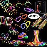 IREGRO Knicklichter 460 Stcke Leuchtstbe Armreifen Glowstick Partylichter inkl. 100 x 2D-Verbinder,...