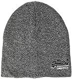 Superdry Herren ORANGE Label Beanie Strickmtze, Grau (Basalt Grey Grit Q6s), One Size...