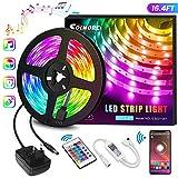LED Streifen 5M, RGB LED Strip steuerbar via App, Led Bnder 16 Millionen Farben, Sync mit Musik,...