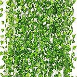 CQURE Künstliche Hängepflanzen, Fake Ivy Blätter Girlande Geschenke Party Garten Hochzeit Wand...