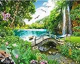 Benutzerdefinierte Tapete Wohnkultur Ultra Hd Xanadu Wonderland Bridge Landschaft Wohnzimmer Tv...