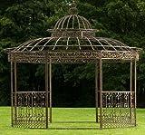CLP Pavillon ROMANTIK aus pulverbeschichtetem Eisen I Runder Pavillon mit stilvollen Verzierungen l...