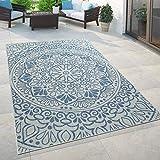 Paco Home In- & Outdoor-Teppich, Für Balkon Und Terrasse Mit Orient-Muster, In Blau,...