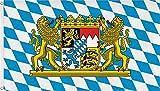 normani Fahne mit Messingösen 90 x 150, 150 x 250 oder 300 x 500 cm wählbar Farbe Bayern Größe...