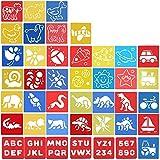 42 Stück Schablonen Kinder Malen - Textilgestaltung Malschablonen Zeichenschablonen Basteln -...