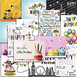 Kuuqa 20 Stcke Alles Gute zum Geburtstag Karten mit 20 Umschlgen, Grukarten Entworfen von KUUQA