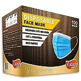 3-lagige Gesichtsmasken für Erwachsene, Einweg-Mundschutz, atmungsaktive Gesichtsbedeckungen,...