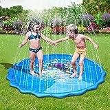 Faburo Aufblasbare Wasserspielmatte Splash Pad Wassergefüllte Spielmatte Wassermatte Pool Kinder...