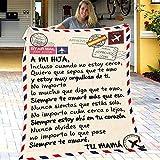 XXXZZL Brief Postkarte Fleece Decke Für Meine Tochter möchte ich, auch wenn ich Nicht in der Nähe...