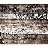 murando Fototapete Holz 400x280 cm Vlies Tapeten Wandtapete XXL Moderne Wanddeko Design Wand...