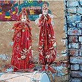 URBAN HAAT Jaipuri Handicraft Cotton Puppets In Pair (Multicolour)