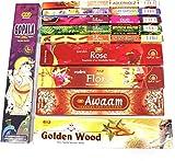 Premium Räucherstäbchen Set XXL, 10 Packungen aus Indien, Incense Sticks, Luxflair Großpackung...