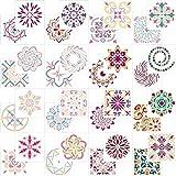 AIEX Mandala Dotting Schablone, 32 Stück Sortierte Muster Wiederverwendbares Mandala Schablonen...