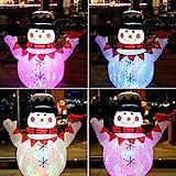 CCLIFE Led selbstschneiender Schneemann mit Schneefall Beleuchtet Aufblasbar snowman outdoor...